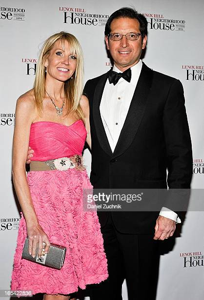 Kathy Prounis and Othon Prounis attend the Lenox Hill Neighborhood House Spring Gala Benefit at Cipriani 42nd Street on April 3 2013 in New York City