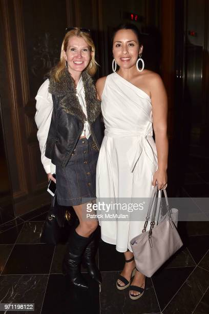 Kathy Prounis and Samantha Valerio attend Christopher R King Debuts New Luxury Brand CCCXXXIII at Baccarat Hotel on June 5 2018 in New York City