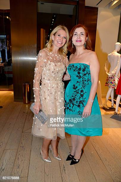 Kathy Prounis and Sana Sabbagh attend the Lenox Hill Neighborhood House Associates Committee Fall Benefit Celebrate the Neighborhood Cocktails at...
