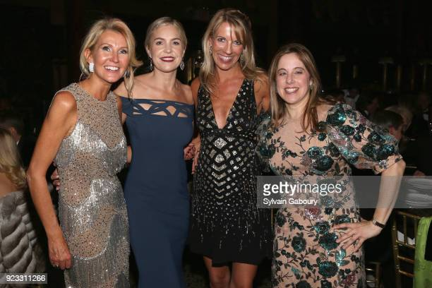 Kathy Prounis Erin O'Callaghan Stephanie Hessler and Elizabeth Belfer attend Museum of the City of New York Winter Ball on February 22 2018 in New...