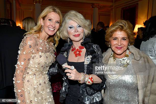 Kathy Prounis Linda Axelrod and Leila Heller and a Joan Rivers Impersonator attend the Lenox Hill Neighborhood House Associates Committee Fall...