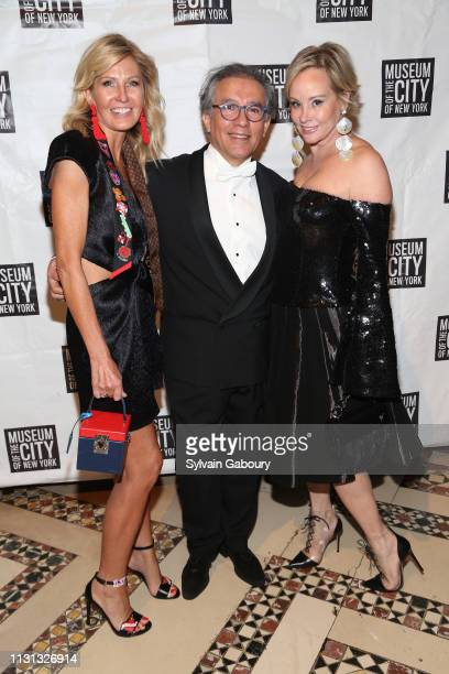Kathy Prounis Sergio Orozco and Yaz Hernandez attend Museum Of the City Of New York Winter Ball at Cipriani 42nd Street on February 21 2019 in New...