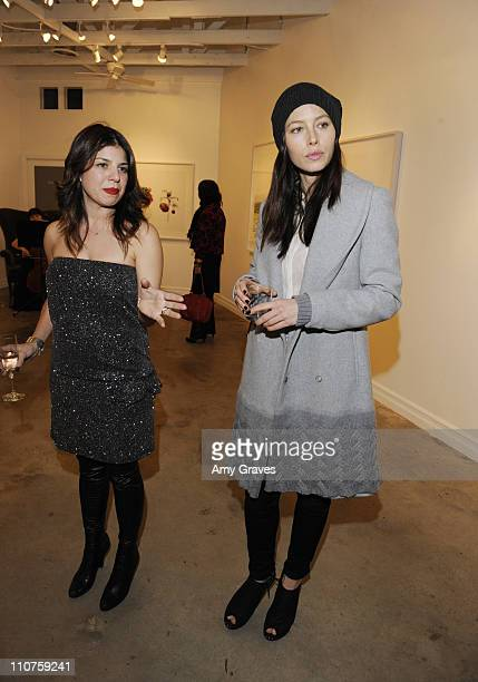 Kathy Rose and Jessica Biel attend the Charlotte Bjorlin Delia Jewelry Show and Manfred Menz Art Show at Roseark on December 1 2010 in West Hollywood...