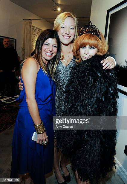 Kathy Rose Beth Yorn and Linda Ramone attend the Beth Yorn Photography Show at Roseark on November 7 2013 in West Hollywood California