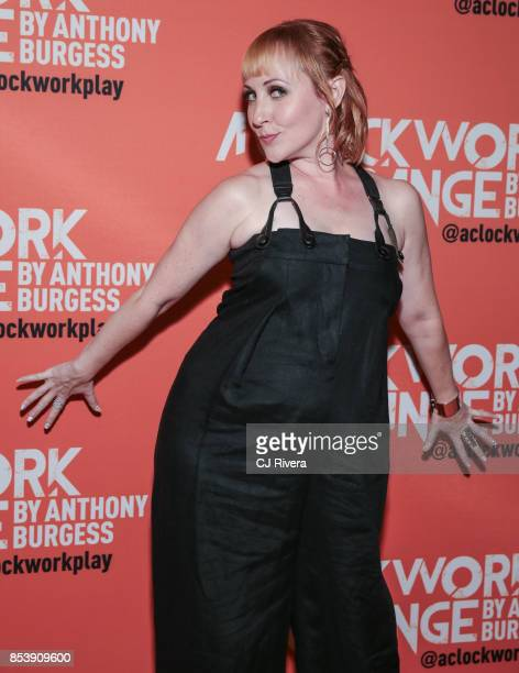 Kathy Searle attends the OffBroadway opening night of 'A Clockwork Orange' at New World Stages on September 25 2017 in New York City