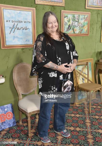 Kathy Self attends the Los Angeles Premiere Of HBO Films MY DINNER WITH HERVE at Paramount Studios on October 4 2018 in Hollywood California