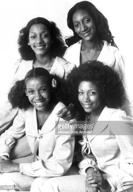 Kathy Sledge Joni Sledge Debbie Sledge and Kim Sledge of the vocal group Sister Sledge pose for a portrait in circa 1973