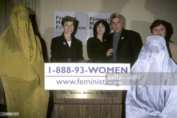 Kathy Spiller Mavis Leno and Jay Leno during Feminist Majority Foundation News Conference For Afghan Women at Century Plaza Hotel in Century City...