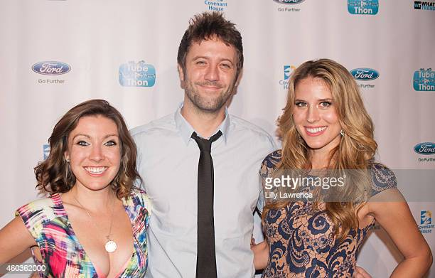 Kathy Sue Holtorf Kyle Sonia and Andrea Feczko attend What's Trending 3rd Annual TubeAThon on December 11 2014 in Los Angeles California