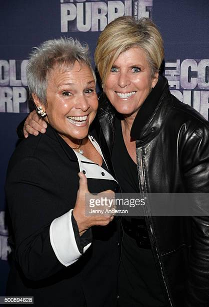 Kathy Travis and Suze Orman attend The Color Purple Broadway opening night at the Bernard B Jacobs Theatre on December 10 2015 in New York City