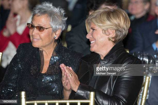 Kathy Travis and tv personality Suze Orman attend The Center Dinner 2013 Gala at Cipriani Wall Street on April 11 2013 in New York City