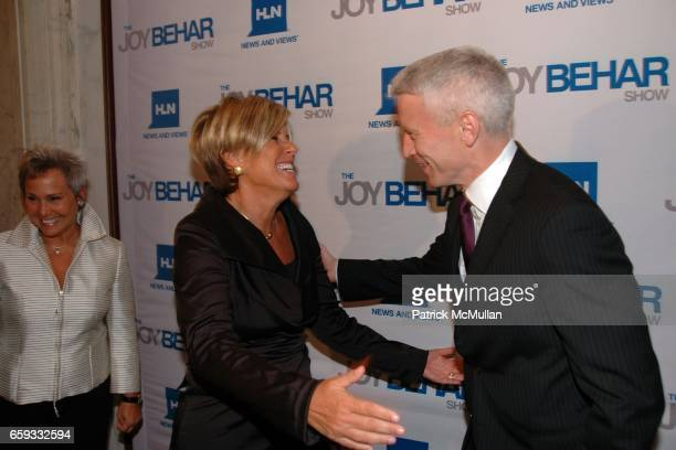 Kathy Travis Suze Orman and Anderson Cooper attend HLN's Joy Behar Show Launch at The Oak Room on September 23 2009 in New York City