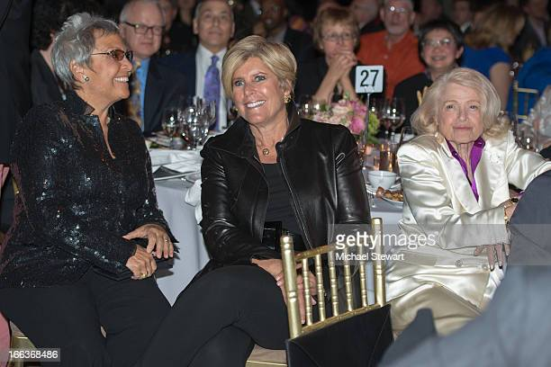 Kathy Travis TV personality Suze Orman and Edith Edie Windsor attend The Center Dinner 2013 Gala at Cipriani Wall Street on April 11 2013 in New York...