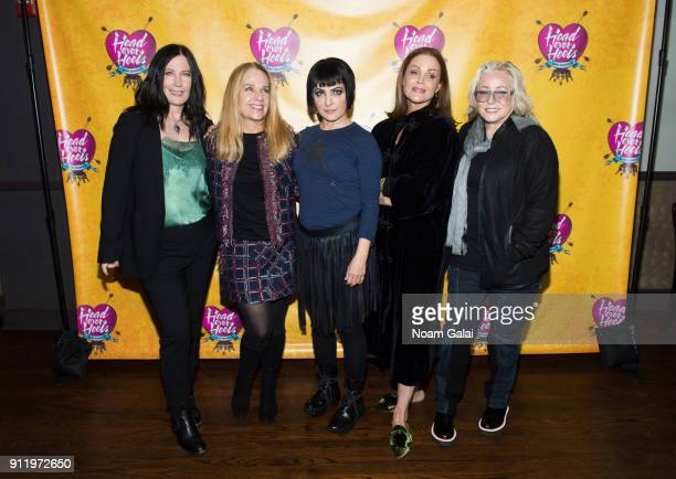 Kathy Valentine Charlotte Caffey Jane Wiedlin Belinda Carlisle and Gina Schock of The GoGo's attend a celebration of broadway's new musical 'Head...