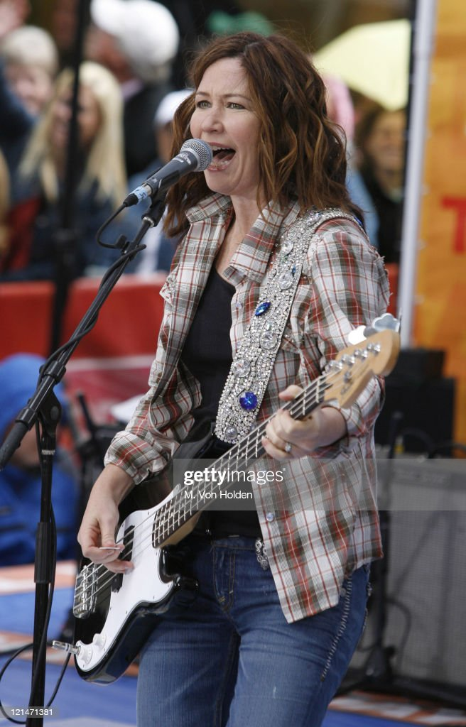 Kathy Valentine During The GoGou0027s On The Today Show At Rockefeller Plaza In  New York,