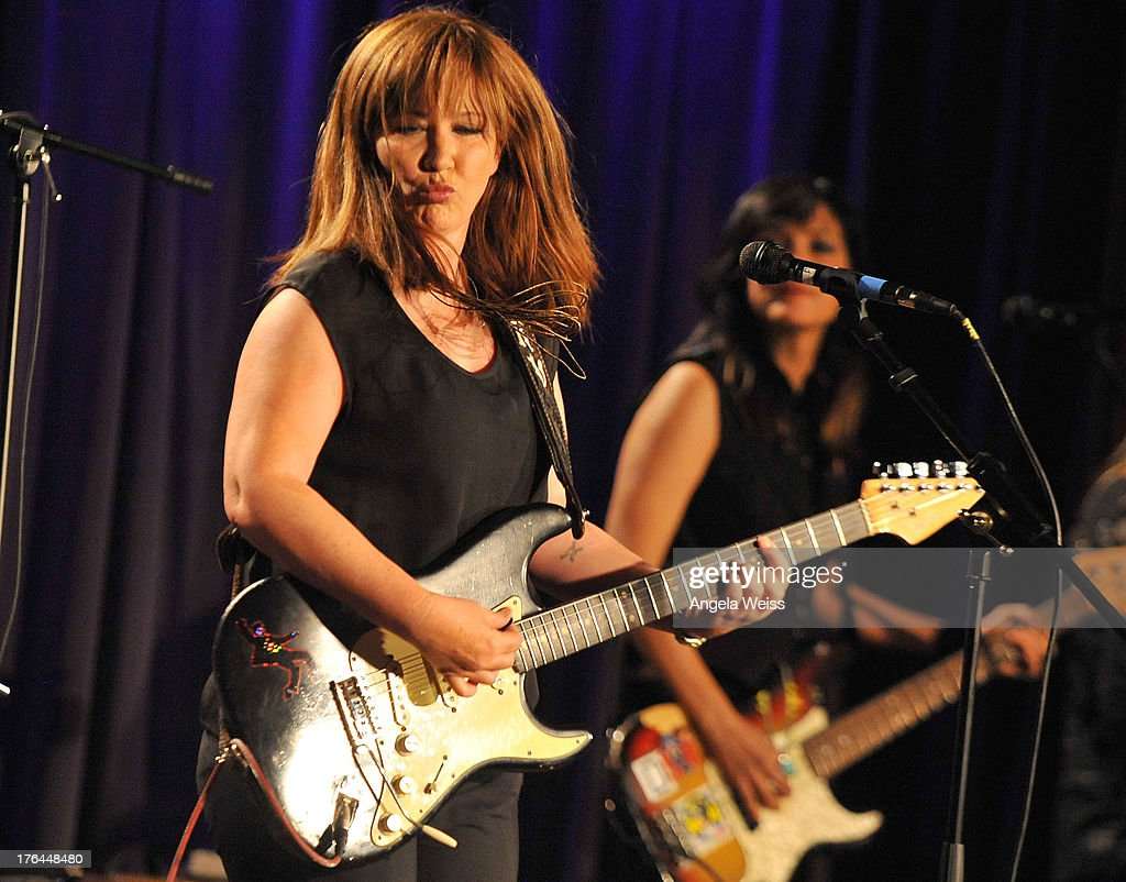 Kathy Valentine Of Bad Empressions Performs At The GRAMMY Museum On August  12, 2013 In
