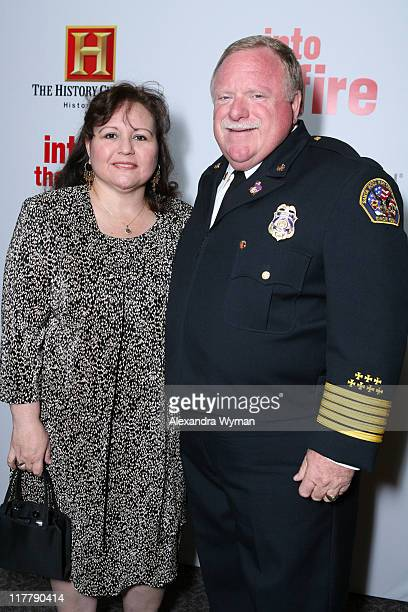 Kathy Varner and Bruce Varner during Chris O'Donnell and Fireman's Fund Insurance Company Host World Premiere of Into The Fire at The Directors Guild...