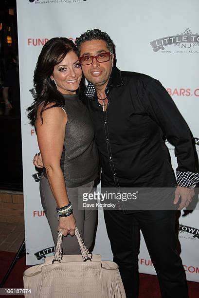 Kathy Wakile and Rich Wakile attend 'Little Town NJ' Restaurant Opening Hosted By The Manzo Brothers at Little Town NJ Restaurant on April 9 2013 in...
