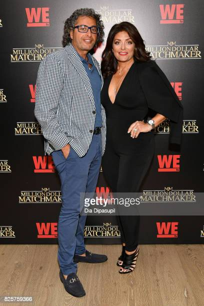 Kathy Wakile and Rich Wakile attend WE tv's Exclusive Premiere of Million Dollar Matchmaker Season 2 at the Whitby Hotel on August 2 2017 in New York...