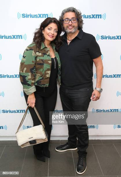 Kathy Wakile and Richard Wakile visit at SiriusXM Studios on October 23 2017 in New York City