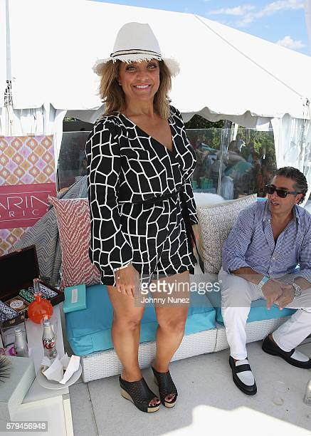 Kathy Wakile attends Jill Zarin's 4th Annual Luxury Luncheon at Private Home on July 23 2016 in East Hampton City