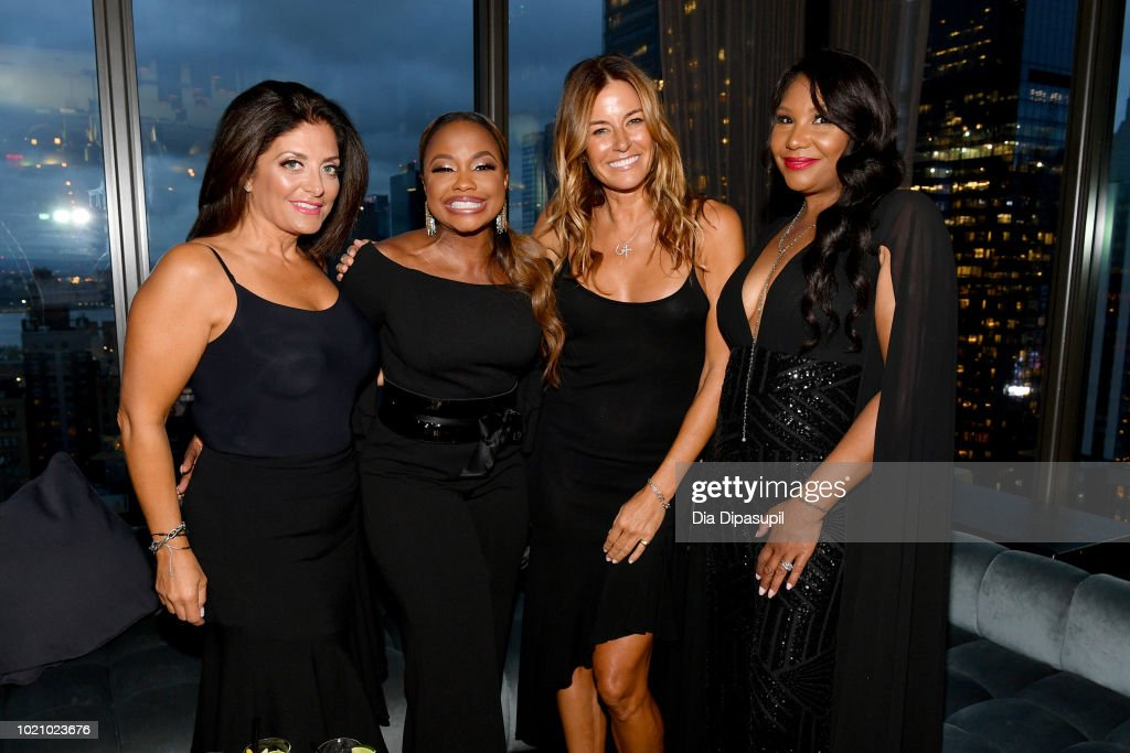 Kathy Wakile, Phaedra Parks, Kelly Bensimon and Traci Braxton attend WE tv and Traci Braxton celebrate the new season of Braxton Family Values at The Skylark on August 21, 2018 in New York City.