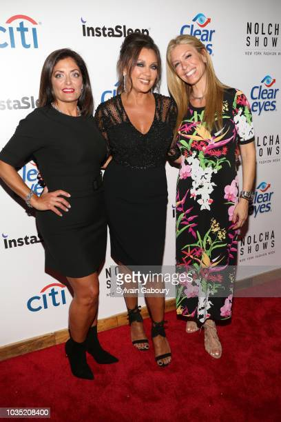 Kathy Wakile Vanessa Williams and Jill Martin attend Clear Eyes Partners With The Nolcha Shows To Showcase Emerging Designers' #MyShiningMoment at...