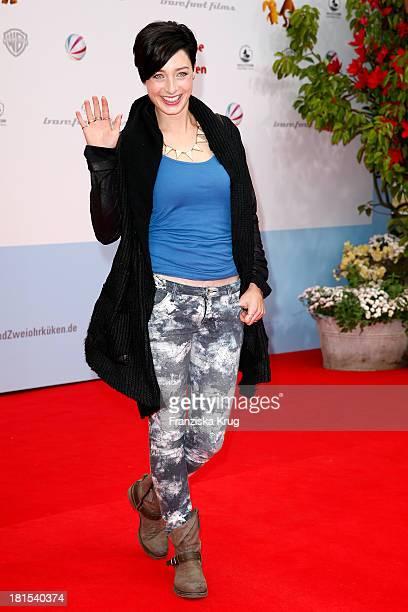 Kathy Weber attends the 'Keinohrhase und Zweiohrkueken' Premiere at CineStar on September 22 2013 in Berlin Germany