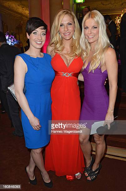 Kathy Weber, Sonya Kraus and Tina Kaiser attend the Best Brands 2013 Gala at Bayerischer Hof on February 6, 2013 in Munich, Germany.