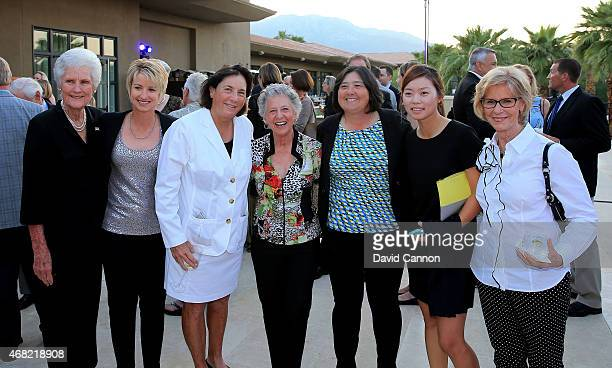 Kathy Whitworth Karrie Webb Amy Alcott Sandra Palmer Pat Hurst Sun Young Yoo and Judy Rankin at the ANA Inspiration Champions Dinner hosted by Rolex...