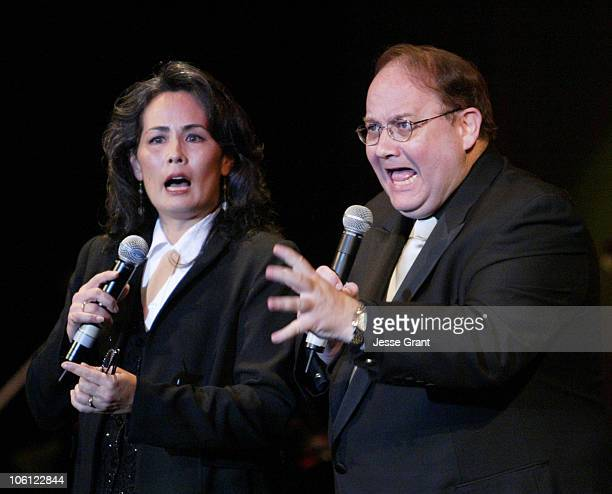 Kathy Woo and Marc Cherry during 51st Annual Thalians Ball - Show at Hyatt Regency Century Plaza in Century City, California, United States.