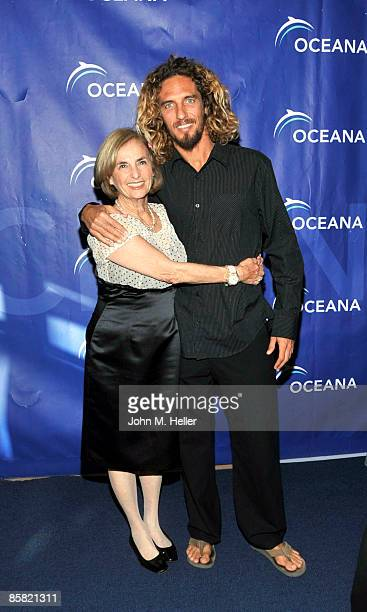 Kathy Zuckerman and World Champion Surfer Rob Machado attend the 2009 Project Save Our Surf 1st Annual Surfathon and Oceana Awards at Shutters on the...
