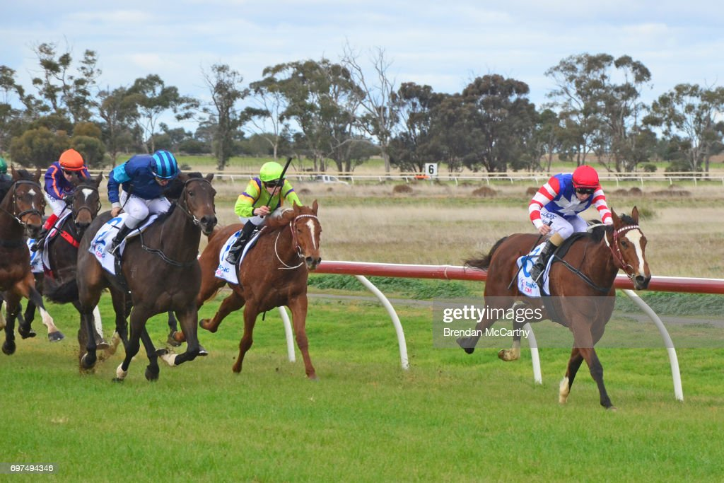 Kathy's Spirit ridden by Harry Coffey wins the Donald Tyre & Exhaust Centre 2YO Maiden Plate at Donald Racecourse on June 19, 2017 in Donald, Australia.