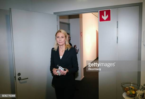 Kati Levoranta chief executive officer of Rovio Entertainment Oyj leaves a news conference in Espoo Finland on Friday March 2 2018 The maker of the...