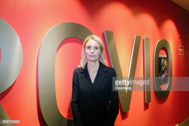 Kati Levoranta chief executive officer of Rovio Entertainment Oyj poses for a photograph at the company's headquarters in Espoo Finland on Friday...