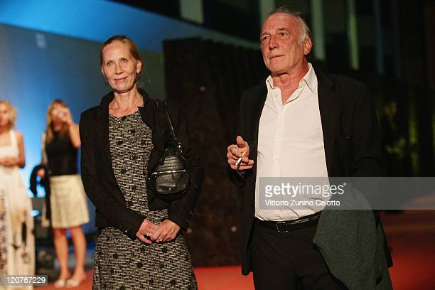 Kati Outinen and Andre Wilms attend 'Le Havre' red carpet during the 64th Festival del Film di Locarno on August 10 2011 in Locarno Switzerland