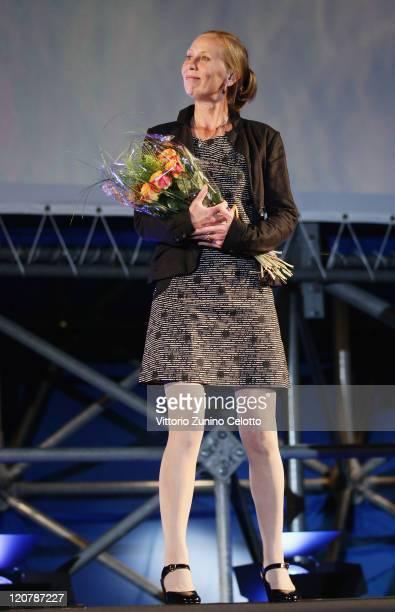 Kati Outinen attends 'Le Havre' red carpet during the 64th Festival del Film di Locarno on August 10 2011 in Locarno Switzerland