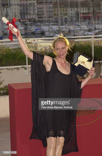 Kati Outinen winner of the Best Actress award for her role in 'The Man Without a Past'