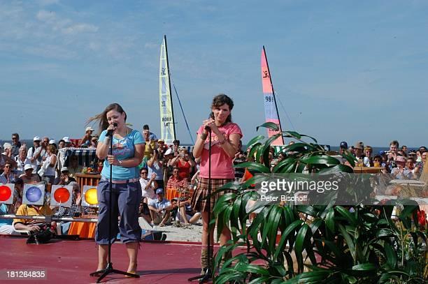 Kati und Ela von der Musikgruppe Wonderwall ARD/NDRShowAktuelle Schaubude Nordstrand von Amrum