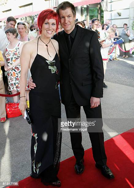 Kati Wilhelm and Andreas Emslander attends the 'Goldene Sportpyramide Award' at the Adlon Hotel on May 31 2008 in Berlin Germany