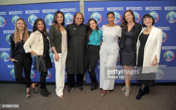 Katia Cerwin Shelly Kapoor Collins Mina Chang Kunal Sood Wendy Diamond Evita Robinson Monika Iken and Laila Pawlak Ostergaard attend 2017 Women's...