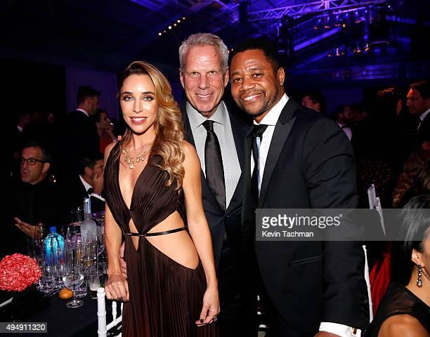 Katia Francesconi Executive Vice President of the New York Giants Steve Tisch and Cuba Gooding Jr attend the amfAR Inspiration Gala at Milk Studios...