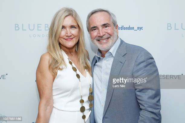 Katia Graytok and Thierry Chaunu attend the Bluebird London New York City launch party at Bluebird London on September 5 2018 in New York City