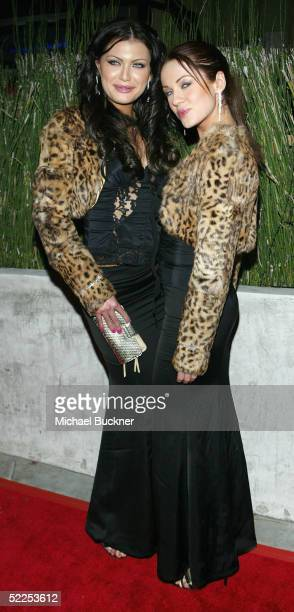 Katia Jones and Ksenia Linkova pose for pictures at the 6th Annual Awards Celebration Viewing Dinner for Children Uniting Nations on February 27 2005...