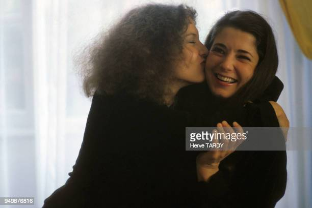 Katia Labèque et Marielle Labèque pianistes en juin 1983 à SaintJeandeLuz France