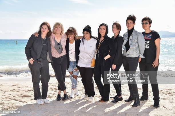 Katia Lewkowicz Mika Tard Amel Bent Sylvie Hoarau guest Marie Amachoukeli and guest attend the Kings Photocall during the 2nd Canneseries...