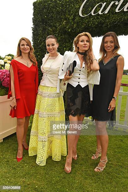 Katia NeverovaDe Keerle and Alexandra Shishlova attend The Cartier Queen's Cup Final at Guards Polo Club on June 11 2016 in Egham England