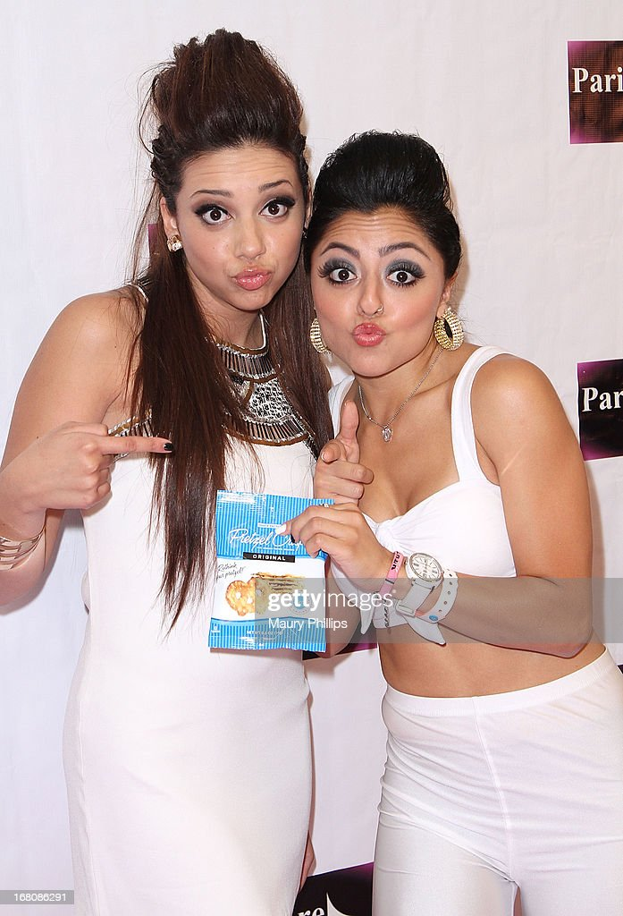 Katia Nicole and Jazmine Lucero attend Katia Nicole's Rave Music Video release party on May 4, 2013 in Los Angeles, California.