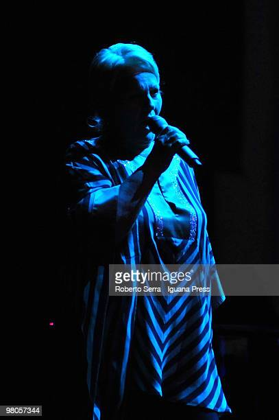 Katia Ricciarelli perform in the charity concert in support of Santo Stefano church restoration at Futurshow Station on March 23, 2010 in Bologna,...