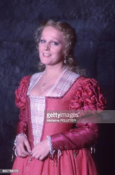 Katia Ricciarelli sur le tournage du film 'Othello' réalisé par Franco Zeffirelli en mars 1986 Italie